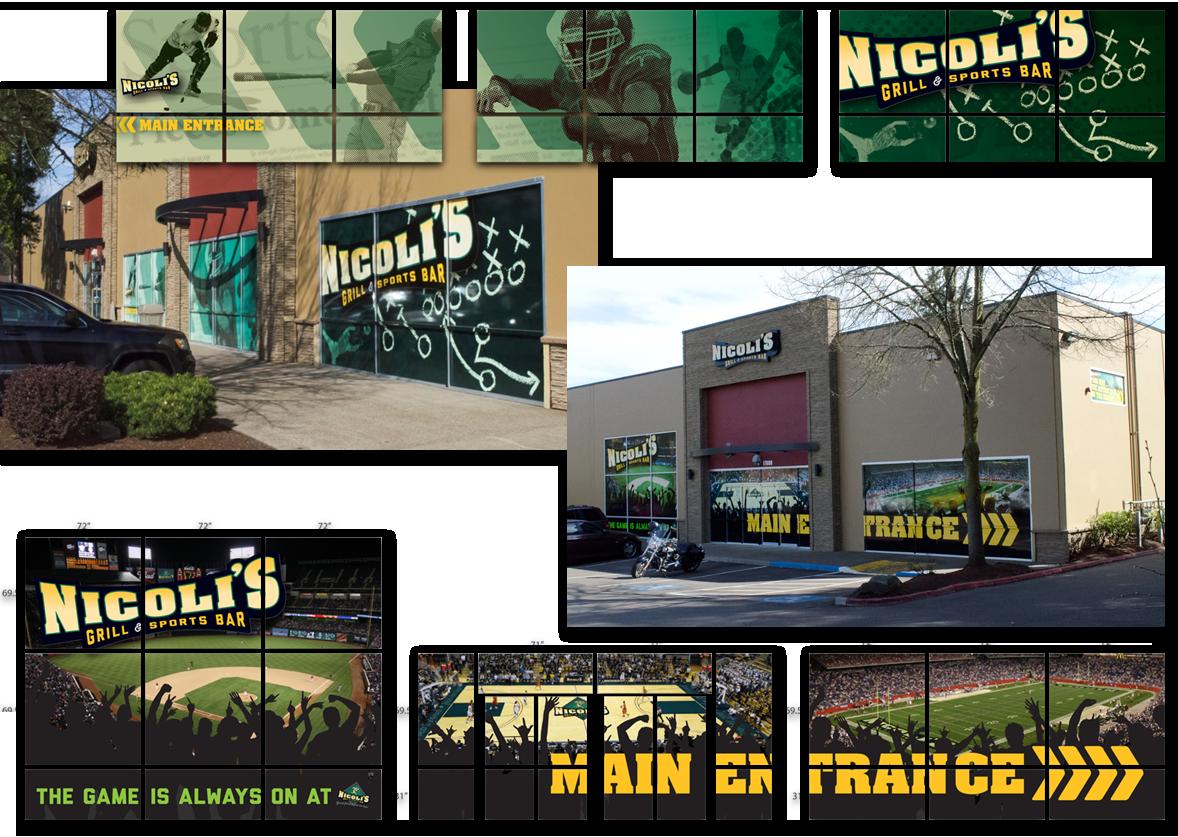 Nicoli's exterior graphics