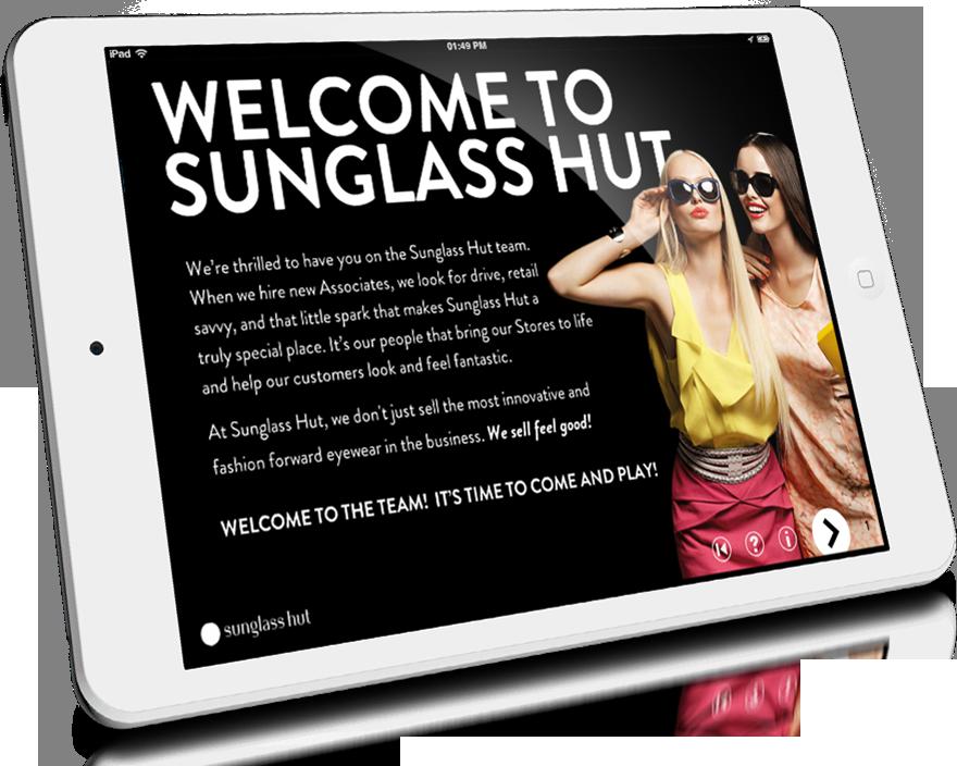 Sunglass Hut online learning