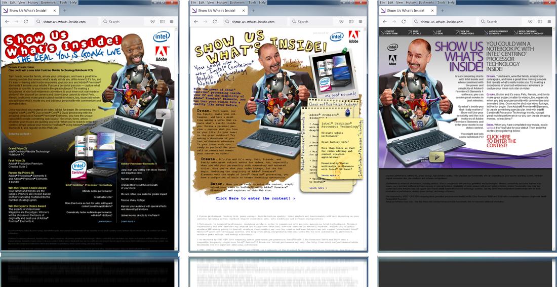 Adobe Premier Elements alternate web designs